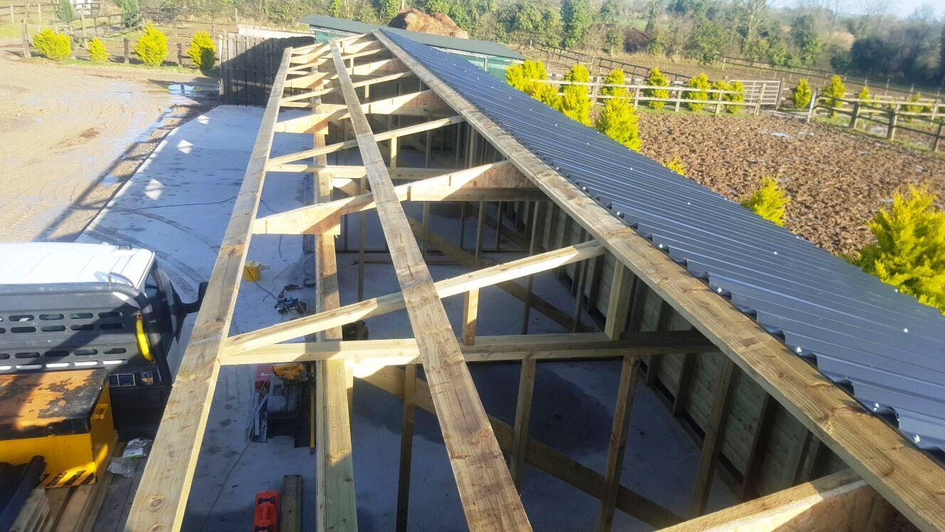 equestrian buildings ireland - Roofing frame work