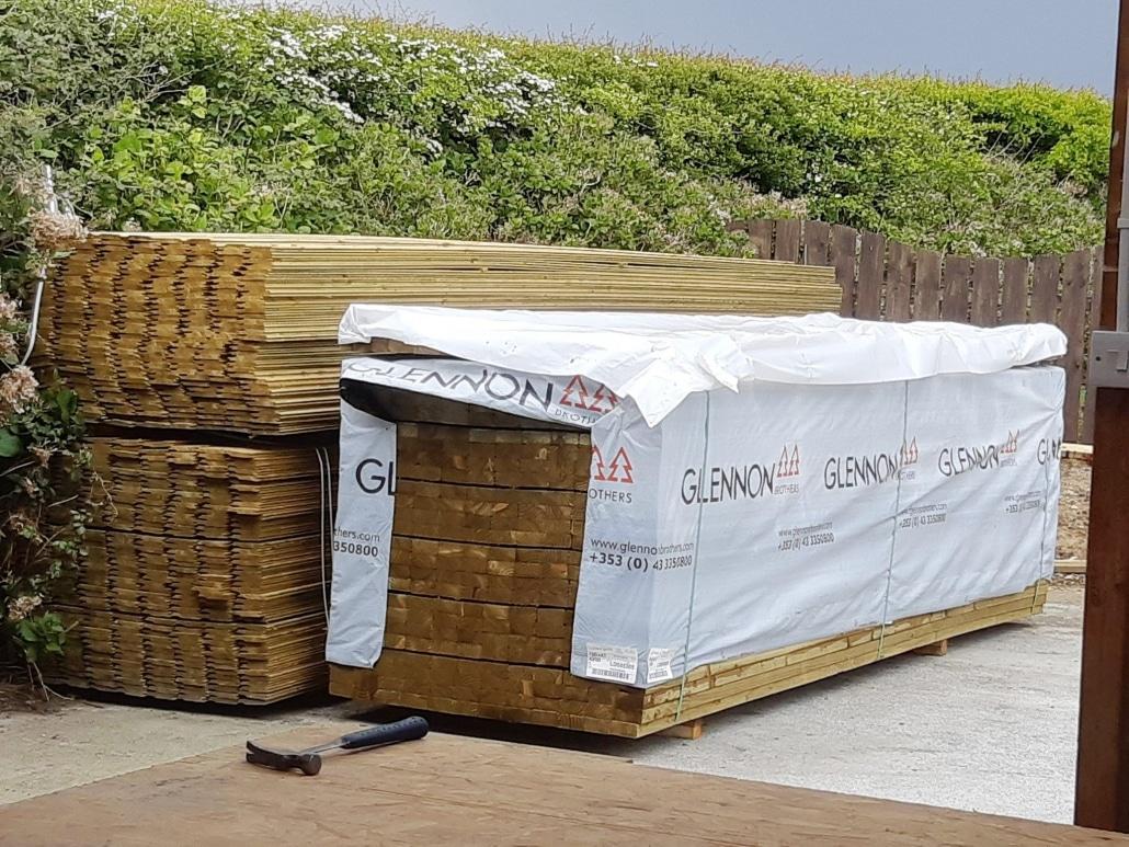 bales of timber